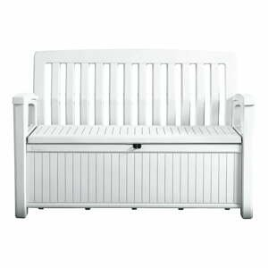 Bílá úložná zahradní lavice Keter
