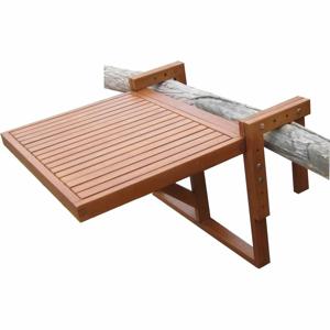 Set 2 židlí a závěsného stolku z eukalyptového dřeva ADDU Balcony Berkeley
