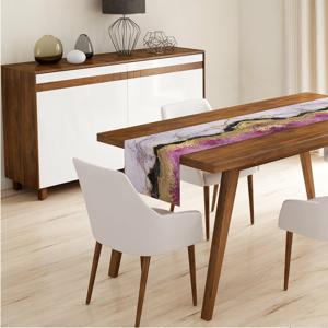 Běhoun na stůl Minimalist Cushion Covers Pink Gold, 140 x 45 cm