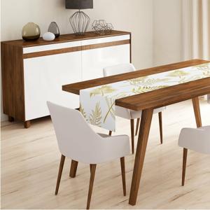 Běhoun na stůl Minimalist Cushion Covers Gold Leaves, 140 x 45 cm