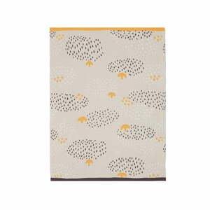 Béžovo-oranžový dětský bavlněný přehoz přes postel Södahl Raindrops,80x100cm