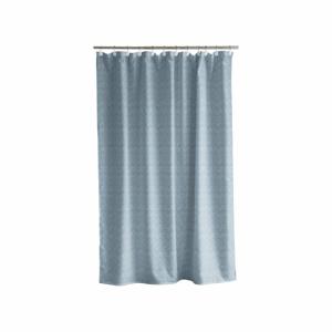 Modrý sprchový závěs Södahl Leo Geometric, 180x200cm