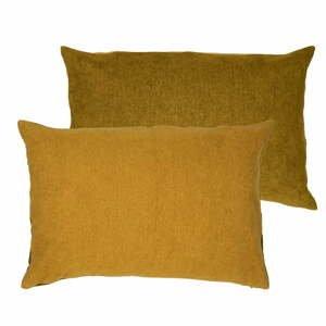 Žlutý polštář s vysokým podílem bavlny Södahl Klara, 40 x 60 cm