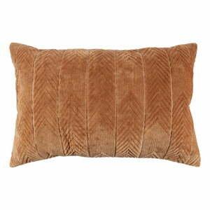 Karamelově hnědý dekorativní polštář WOOOD Fallon Toffee, 40 x 60 cm