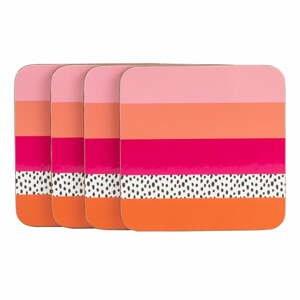 Růžovo-oranžový podtácek Navigate Stripe