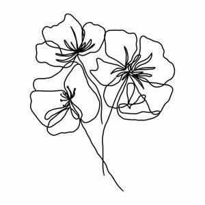 Plakát na kvalitním fotopapíře Veronika Boulová Květy, A3
