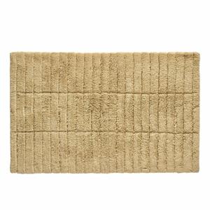 Tmavě béžová bavlněná koupelnová předložka Zone Tiles,80x50cm