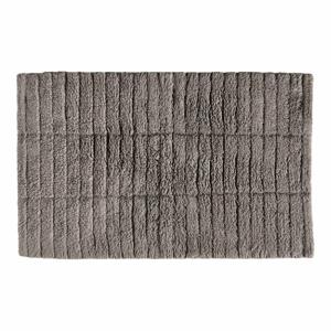 Šedohnědá bavlněná koupelnová předložka Zone Tiles,80x50cm