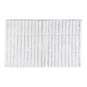 Bílá bavlněná koupelnová předložka Zone Tiles,80x50cm