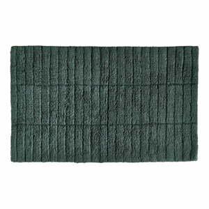 Tmavě zelená bavlněná koupelnová předložka Zone Tiles,80x50cm