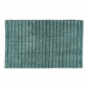 Petrolejově zelená bavlněná koupelnová předložka Zone Tiles,80x50cm