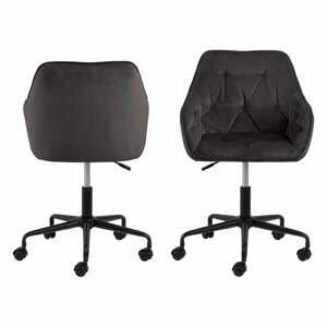 Šedohnědá kancelářská židle se sametovým povrchem Actona Brooke