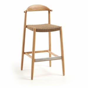 Venkovní barová židle z eukalyptového dřeva La Forma Glynis