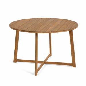 Zahradní jídelní stůl z akáciového dřeva La Forma Dafne, ⌀ 120 cm