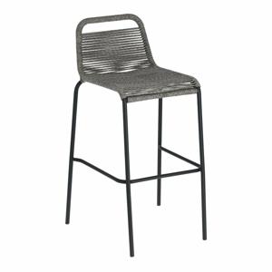 Šedá barová židle s ocelovou konstrukcí La Forma Glenville, výška 74 cm