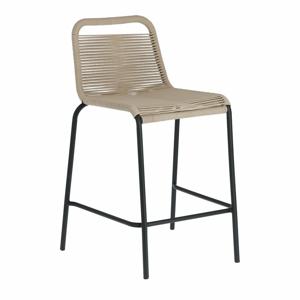 Béžová barová židle s ocelovou konstrukcí La Forma Glenville, výška 62 cm
