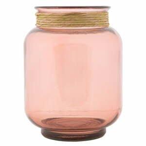 Světle růžová váza z recyklovaného skla Mauro Ferretti Rope Florero