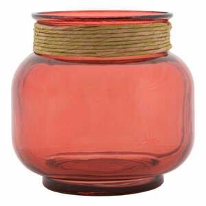 Růžová váza z recyklovaného skla Mauro Ferretti Rope Florero