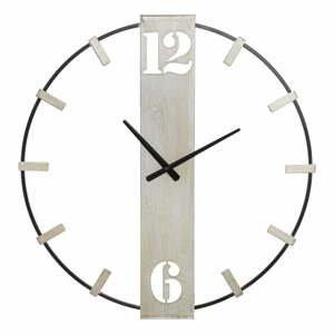 Černé nástěnné hodiny s detaily ve stříbrné barvě Mauro Ferretti Silvery