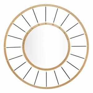 Nástěnné zrcadlo ve zlaté barvě Mauro Ferretti Glam Dark,ø81cm