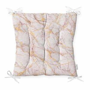 Podsedák s příměsí bavlny Minimalist Cushion Covers Pinky Marble,40x40cm