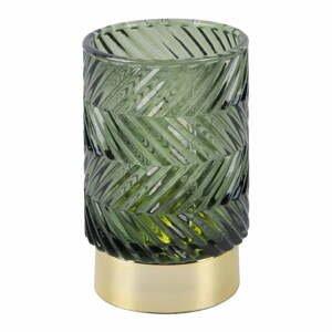 Zelená LED skleněná stolní lampa PT LIVING Zig Zag