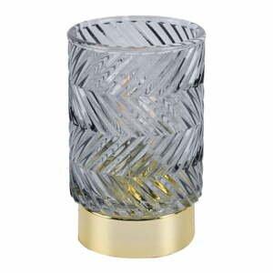 Šedá LED skleněná světelná dekorace PT LIVING Zig Zag