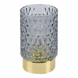 Šedá LED skleněná světelná dekorace PT LIVING Diamond