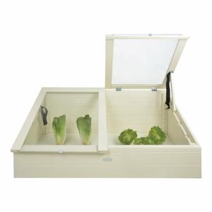 Bílý skleník z masivní borovice Esschert Design