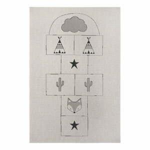 Šedý dětský koberec Ragami Games, 160 x 230 cm