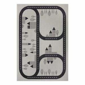 Černý dětský koberec Ragami Roads, 80 x 150 cm