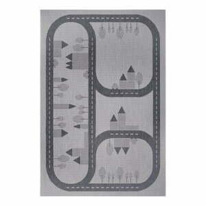 Šedý dětský koberec Ragami Roads, 200 x 290 cm