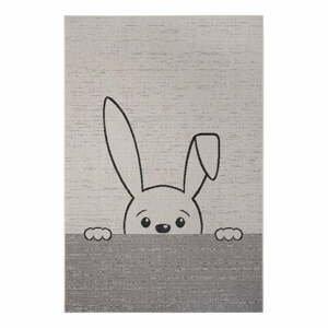 Šedý dětský koberec Ragami Bunny, 80 x 150 cm