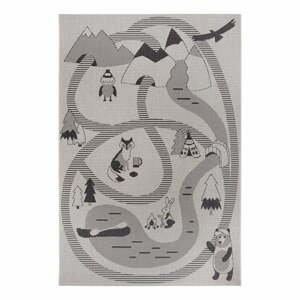 Šedý dětský koberec Ragami Animals, 200 x 290 cm