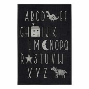 Černý dětský koberec Ragami Letters, 160 x 230 cm