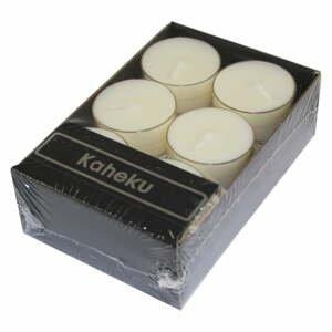 Sada 12 bílých čajových svíček Ego Dekor Silea,doba hoření4h