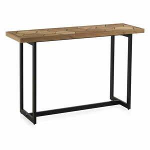 Konzolový stůl s černou železnou konstrukcí Geese Honeycomb