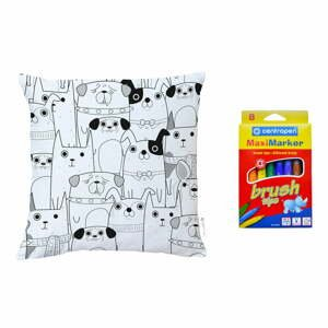 Barvící polštář Mr. Little Fox All Get Together, 45 x 45 cm