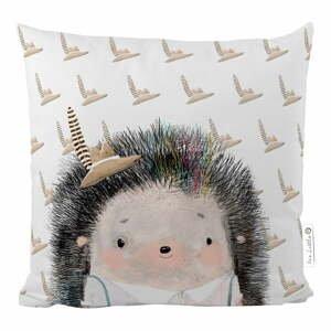 Bavlněný dětský polštář Mr. Little Fox Hedgehog Boy, 45 x 45 cm