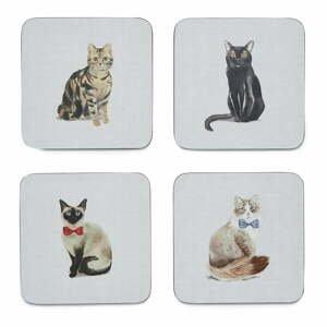 Sada 4 modrých podtácků Cooksmart ® Curious Cats