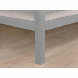 Sada 4 šedých prodloužených nohou ze smrkového dřeva k posteli Benlemi,výška20cm