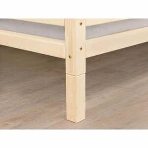 Sada 4 prodloužených dřevěných nohou s matnou lazurou k posteli Benlemi,výška20cm