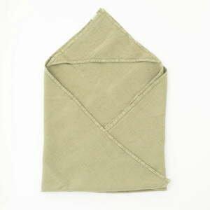 Dětský zelený lněný ručník Linen Tales Waffle,100x100cm