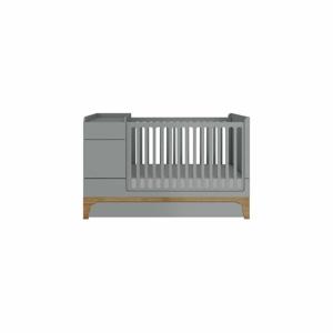 Šedá multifunkční dětská postel Bellamy UP, 70 x 120 cm