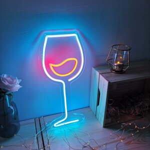 Modro-červená nástěnná svíticí dekorace Candy Shock Wine