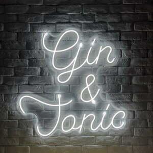 Bílá nástěnná svíticí dekorace Candy Shock Gin and Tonic