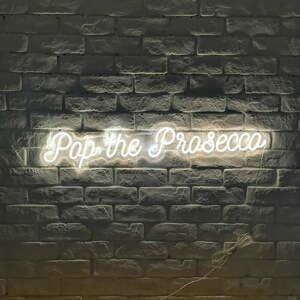 Bílá nástěnná svíticí dekorace Candy Shock Prosecco