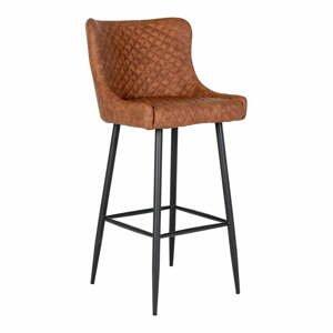 Hnědá barová židle s potahem z umělé kůže House Nordic Dallas