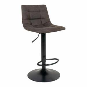 Sada 2 polstrovaných barových židlí s tmavě šedým potahem House Nordic Middelfart