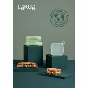 Sada silikonového svačinového boxu na sendvič a dózy na bagetu Lékué Reusable
